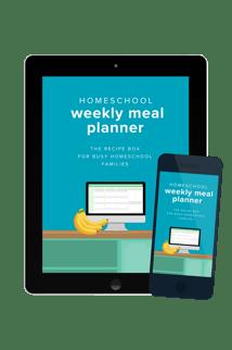 Homeschool Weekly Meal Planner